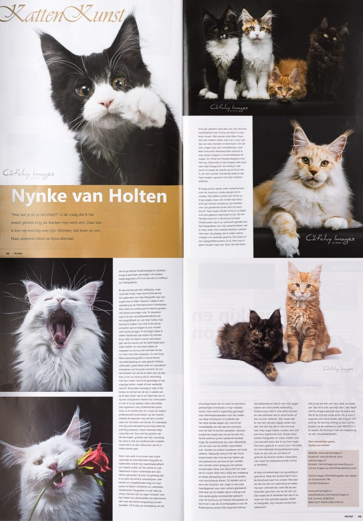 dierenfotograaf Rotterdam, M&MC, me & my cat, publicatie